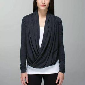 Lululemon 8? Iconic Wrap Sweater Gray
